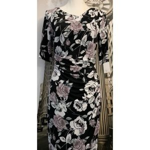 Connected Apparel Floral Knee Length Dress